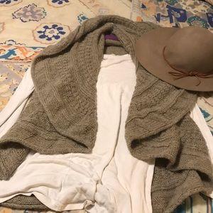 Anthropologie Boho Brown Wool Sweater vest